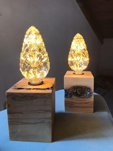 Ξύλινα φωτιστικά κύβοι από ελια 40€ το σετ