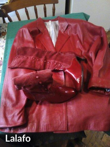 Kozna jakna 38-40slabo koriscena u  paru sa koznim cizmama 37-38 - Belgrade
