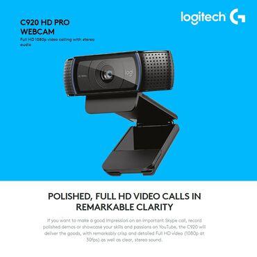 Veb-kameralar - Azərbaycan: Logitech web kameraFull Hd 1080p 30fps / 720p 30fps cekiliş