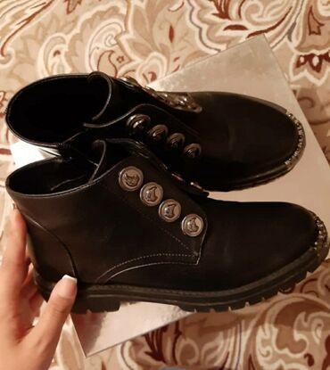 Кожаные ботинки  В хорошем состоянии  Размер 37