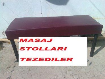 Bakı şəhərində Masaj stolu yumsaq her rengde kojadan mohkemdiler soz ola bilmez