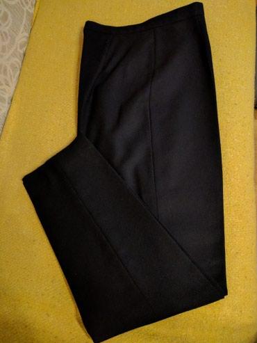 NicolaS crne vunene nove pantalone sa svilenom postavom do kolena - - Palic