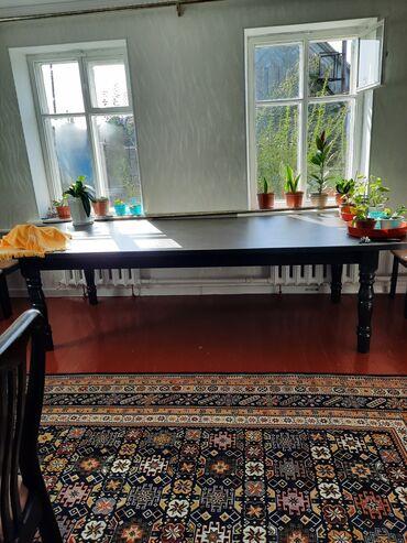 бу мебель in Кыргызстан   ШКАФЫ, ШИФОНЬЕРЫ: В связи с переездом, прод-ся Стол (без стульев) на 12 персон,размеры