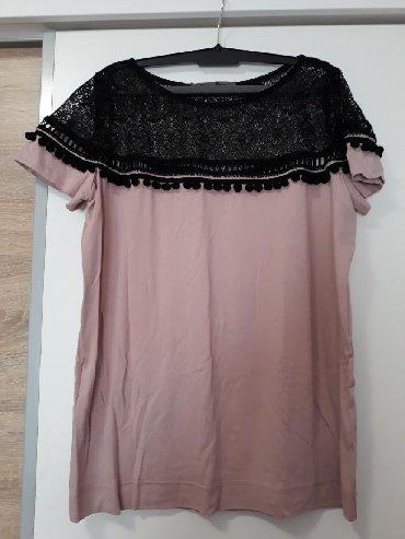 Bluza p - Srbija: P.S. bluzica u puder roze boji. Velicina 40. Cipka u gornjem delu je