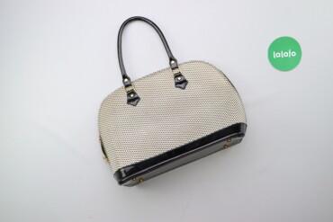 Аксессуары - Киев: Жіноча сумка у маленький горох з лаковими ручками    Висота: 25 см Дов