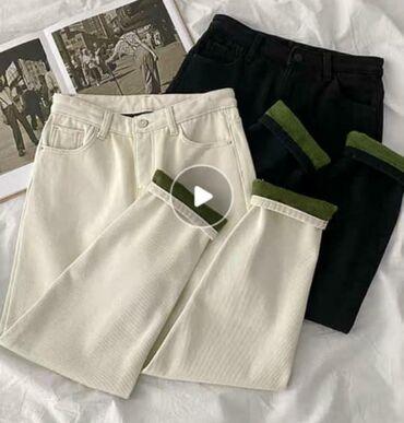 Продаю брюки (женский)  размер M Цвет белый Цена 1150с Привозной Обращ