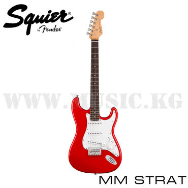 Электрогитара Squier MM STRAT HT REDБюджетная модель от знаменитого