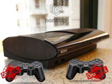 oyun kompyuterleri в Азербайджан: PlayStation 3 slim, 500GB 2 original pultla, yaddaşında 60 oyun pes v7