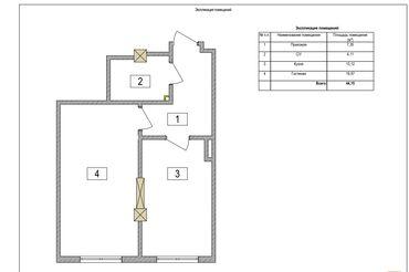 Продажа квартир - Унаа токтотуучу жай - Бишкек: Продается квартира: Общежитие и гостиничного типа, Джал, 1 комната, 44 кв. м