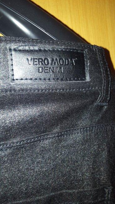 Vero moda skiny farmerke - Srbija: VERO MODA DENIM zenske crne farmerke teksas pantalone kao kozne vel L