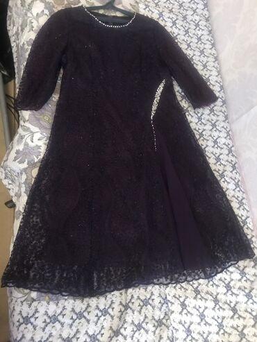 гипюр платье в Кыргызстан: Платье гипюровое с люрексом на прокат 500 сом или продаю !!! Размер 50