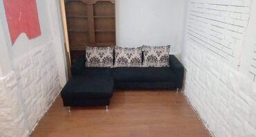 Garniture - Srbija: Ugaona garnitura (NOVA)u štofu crne boje,razvlači se za spavanje ima