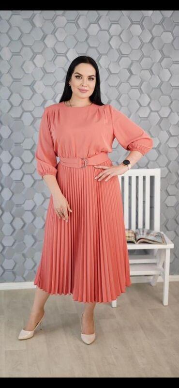 коктейльные платья футляр в Кыргызстан: Размеры 50-56. Нарядное платье🔥Идеально сидит по фигуре, скрывает