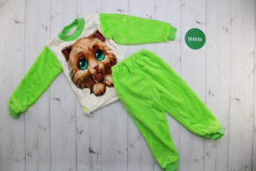Дитяча тепла піжама Котик НОВА, 28    Розмір 28 Зріст 98-104 Матеріал