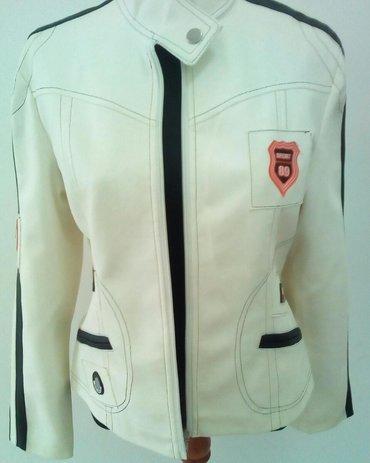 Nova bela kozna jakna, L velicina