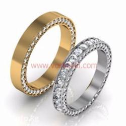 Золотые обручальные кольца из золота 585 пробы с цирконами. в Бишкек