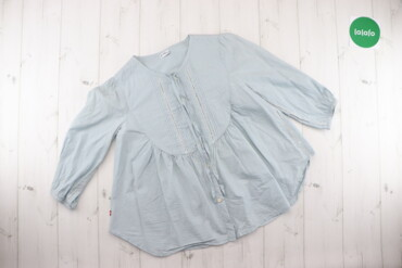 Рубашки и блузы - Цвет: Голубой - Киев: Жіноча літня блузка оверсайз Levis, p. XS    Довжина: 61 см Ширина пле