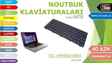 Bakı şəhərində Noutbuk klaviaturalari original rus srifti ile