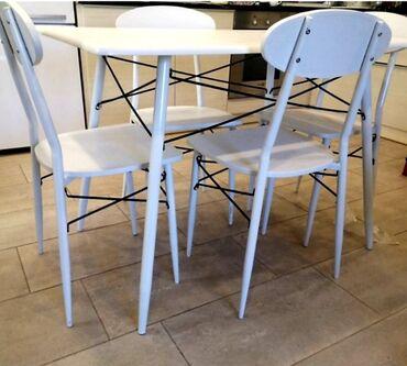 Nameštaj - Svilajnac: Sto sa stolicama,NOVO!☆Trpezarijski SET modernog dizajna po akcijskoj