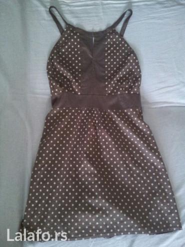 Braon haljina, par puta nošena. Veličina s - Novi Sad
