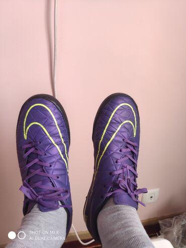 Бутсы - Бишкек: Сороконожки Nike hypervenom оригинал, состояние отличное