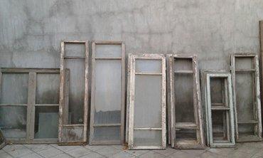 Gəncə şəhərində Taxta qapi, pencere, ayna, fortocka, ishlenmish muxtelif olculerde, pe