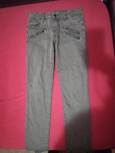 Pantalone-italijinemaju-elastin - Srbija: Ženske pantalone, M veličina, pamuk i elastin, kao nove