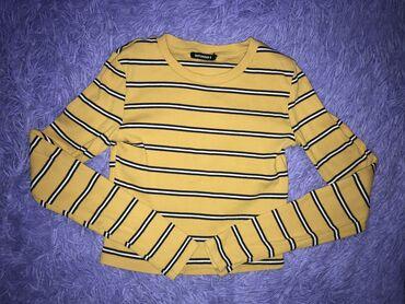 рубашка от mexx в Кыргызстан: Желтый топ в полоску.  Размер XS/S Terranova