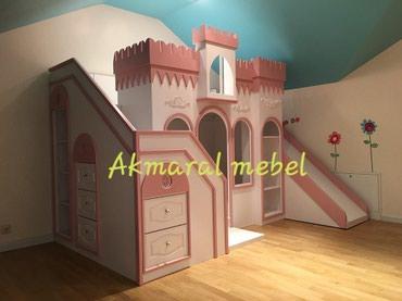 Детская мебель в Кок-Ой: Двухъярусный кровать Дворец 190/80