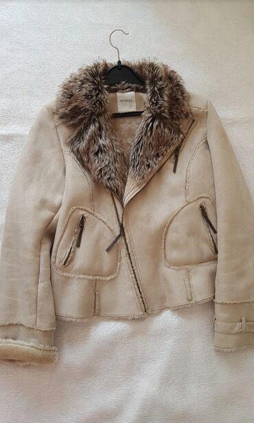 Kozna jakna sa krznom - Srbija: AKCIJA!!!ORSAY jakna sa krznom. prevrnuta koza, cela oblozena