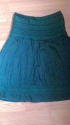 suknja tamno zelena prelepa - Beograd