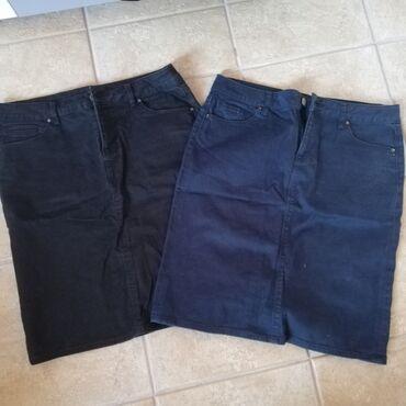 38 - Srbija: Prodajem dve teksas suknjice. Crna i teget. Veličine 38