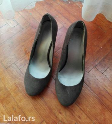 Sive cipelice sa.stiklom br.40 ali kao da.su 39.Bez ostecenja,malo - Krusevac