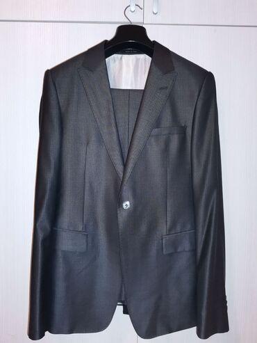 Bunda od cincile - Srbija: Prodajem potpuno novo, originalno Armani odelo, veličina 50, tamno