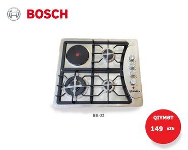 Qaz plitəsi - Azərbaycan: Bosch qaz plitəsi Paslanmaz metal8 çuqun pan supportAvto elektrikli