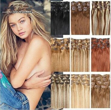 Красота и здоровье - Сокулук: Натуральные волосы на заколках.пр-во США. только под заказ
