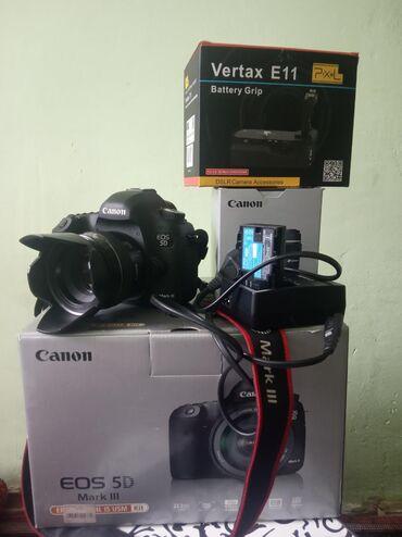 canon-mark-2-5d-цена в Кыргызстан: Canon EOS 5D III. F 1.4, 50mm. Зарядник,2 Оригинал батарейки. Vertax E