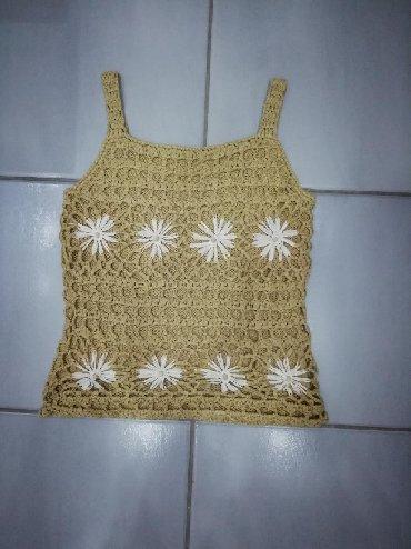 Pletena jaknica - Srbija: Preslatka pletena unikatna majica