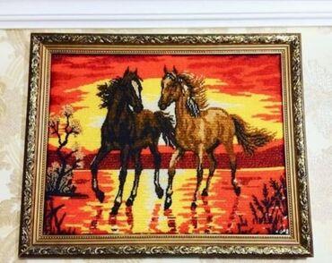 Картина ручная работа из бисера очень красивая ширина 62 см высота кар