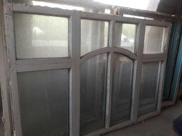 Окна дерево 5 штук самовывоз в Бишкек