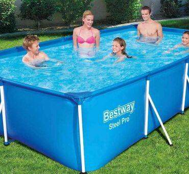 Спорт и хобби - Аламедин (ГЭС-2): Продаю каркасный бассейн Bestway Длина 4м Ширина 2м Высота 80см
