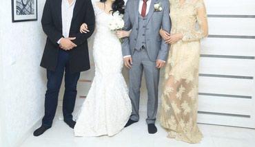 платья корсеты в Кыргызстан: Свадебное платье,цвет: Айвори силуэт- Русалка размер: S, mНа