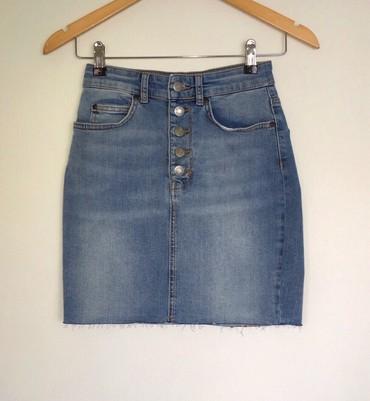 Teksas-suknjica - Srbija: PullBear teksas suknjica, veličina S