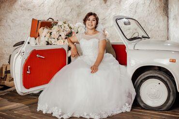 свадебное платье напрокат в Кыргызстан: Продается счастливое свадебное платье!!!одевалась один раз,почти