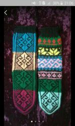 Тёплые носки цветные . с мохером вяжу на заказ.очень хорошая вязка и