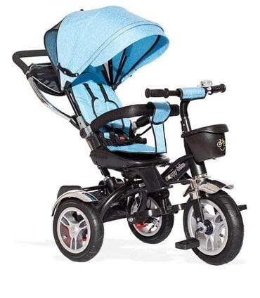 Tricikli - Srbija: Odličan ROTO tricikl za dečake Tricikl-guralica Roto Lux u plavoj