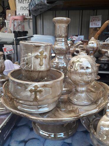 NOVO!!! Izuzetno kvalitetan keramicki slavski set 1/52199 din.Kolicine