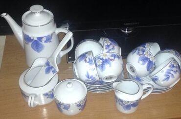 Чайный сервиз. 8 персон. 1 сливочник, 1 молочник. 1 сахарница, 1