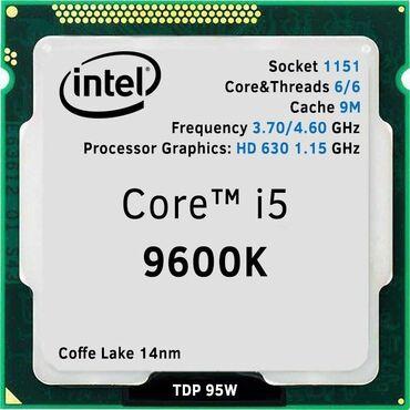 Электроника - Новкхани: Core i5 9600K prosessoru.Prosessor cemisi bir ay isleyib . 10 cu nesil