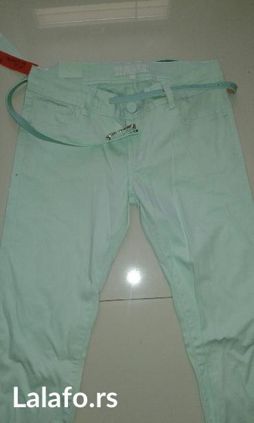 Pantalone-boja - Srbija: Pantalone novo nezno zelena boja veličine xs s m